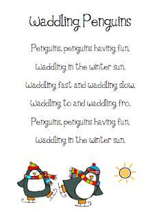 the busy kindergarten penguin poems 712 | Waddling Penguin Poem