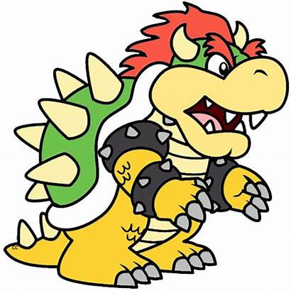 Bowser Mario Clipart Super Bros Cartoon Clip
