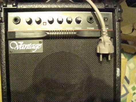 vantage vg10 20 watts drive lifier for electric guitar overdrive 1 input phones