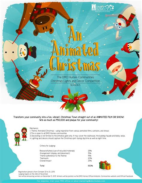 join dmci homes christmas lights and d 233 cor competition