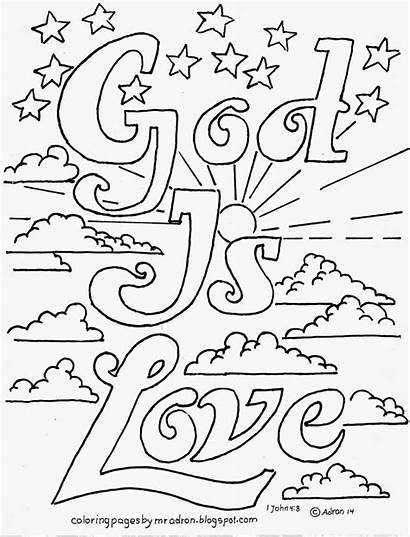 Coloring Pages God Sunday Printable John Adults