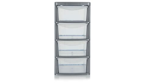 Plastic Tower Drawers. Asda 4 Drawer Storage Unit Home Garden George At Asda. Wham Plastic Deep