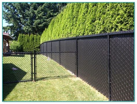black chain link fence cost  foot