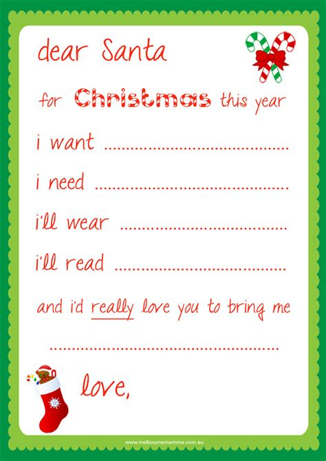 dear santa letter template free template design 8 best images of santa printable template santa 69630