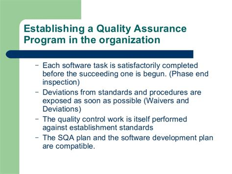 function  software quality assurance lecture