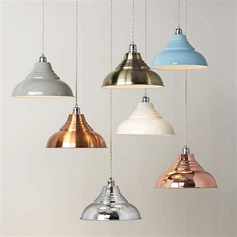 Vintage Metal Pendant Lampshade   Primrose & Plum