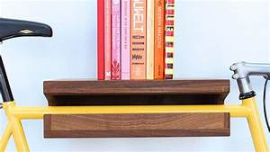 Wooden bicycle and book shelf by knife saw for Wooden bicycle book shelf