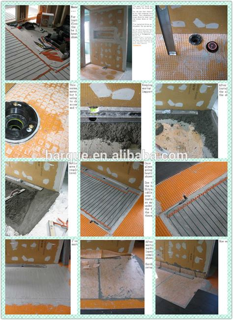 Tile Underlayment Membrane Orange by Uncoupling Membrane Used For Waterproof Flooring