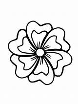 Hibiscus Flower Line Drawing Coloring Clipartmag sketch template