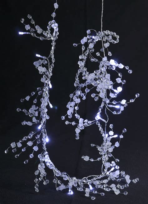 20 led garland light chain w beads and stones