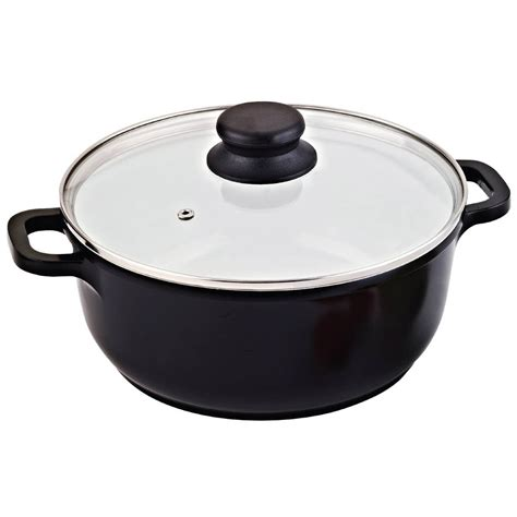 classic series cast aluminum healthy ceramic sauce pot stock pot  glass lid  home kitchen