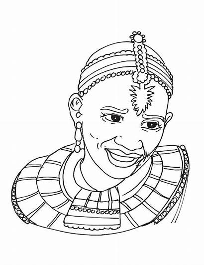 African Tribal Woman Coloring Pages Drawing Africa