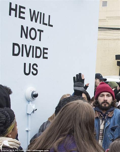 Shia LeBeouf and Jaden Smith launch anti-Trump art project ...