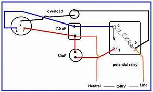 Air Condition Compressor Potential Relay Wiring