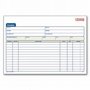 adams carbonless invoice books 2 part 8 716 x 5 916 pack With office depot custom invoices