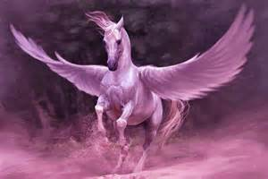 White Pegasus Horse with Wings