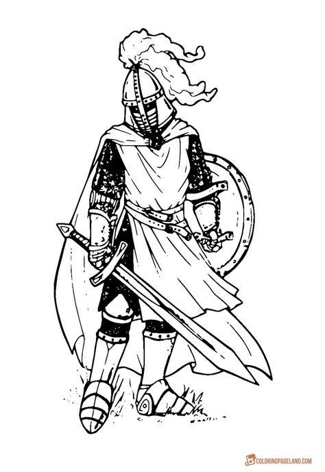 knights coloring pictures   print
