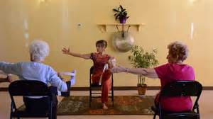 actively aging with energizing chair seniors get