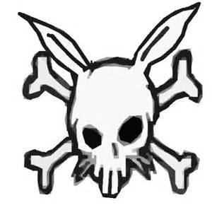 Evil Skull and Crossbones Drawings