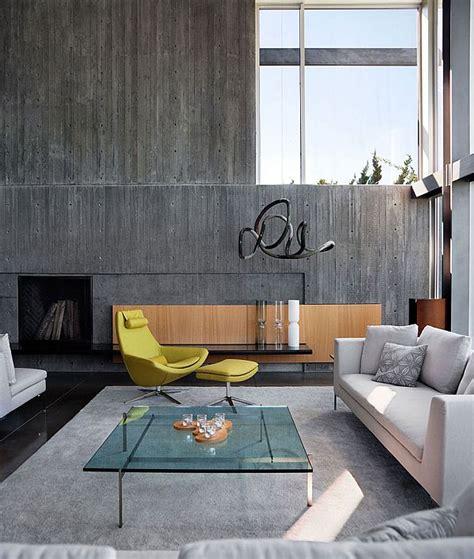 livingroom walls the sheer of concrete walls