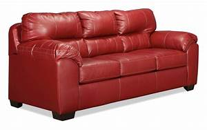 Rigley queen sleeper sofa red levin furniture for Levin furniture sectional sofa