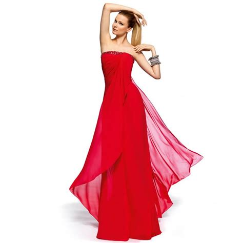 Wearing Beautiful Long Red Dress