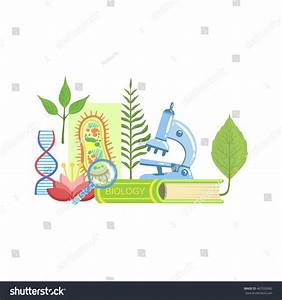 Biology Class Set Objects Stock Vector 467026982