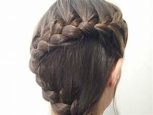 Peinado Trenza En Forma De QuotSquot TRENZAS Pinterest