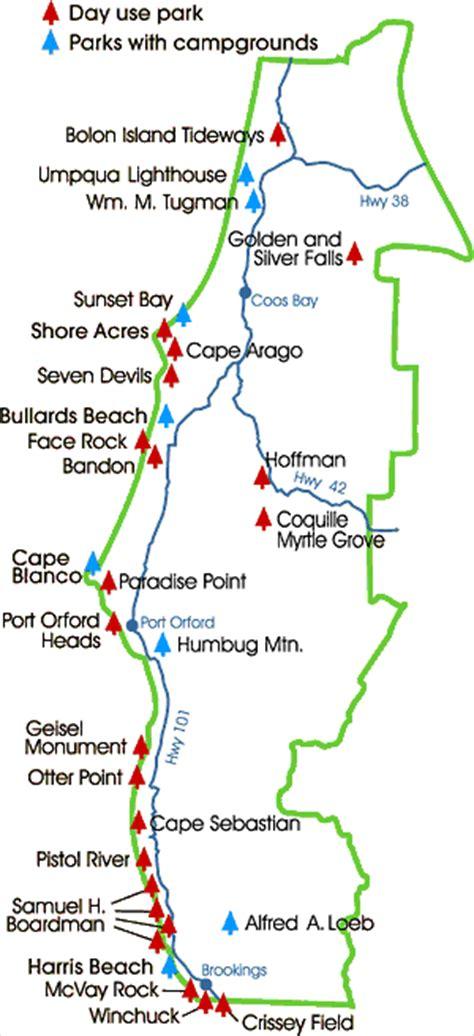 map of oregon coast state parks oregon map