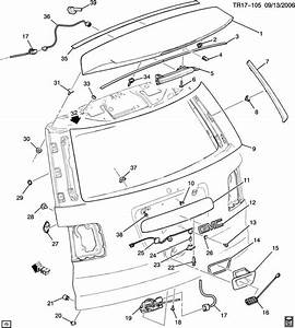 Chevy Tahoe Tailgate Parts Diagram