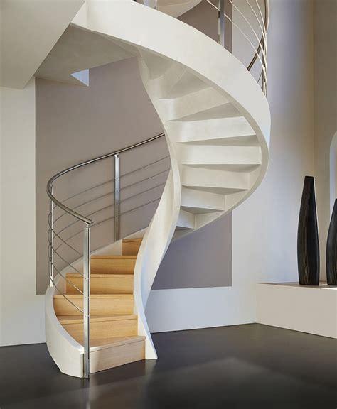 design of spiral staircase refined contemporary design self supporting spiral staircases by rizzi studio freshome com