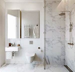 35 white bathroom tile ideas and pictures With porte de douche coulissante avec salle de bain style vintage