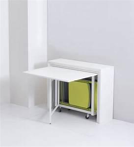 table pliante avec 6 chaises integrees archi table With meuble de salle a manger avec achat table pliante