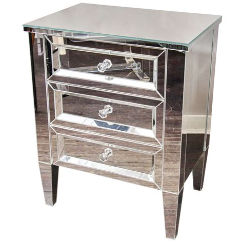 Nightstand For Sale by Beautiful Custom Mirrored Nightstand For Sale At 1stdibs