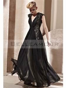 robe de soiree luxe dos nu mousseline longue col en v With robe de soirée de luxe