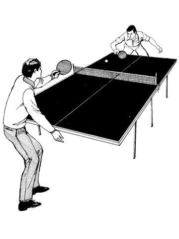 ausmalbild tischtennis spielen ausmalbilder kostenlos