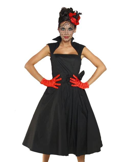 rockabilly kleid mit ärmeln petticoat rockabilly kleid schwarz mit kragen