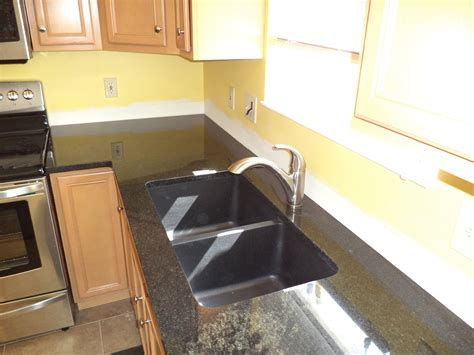 granite america black black granite composite sink