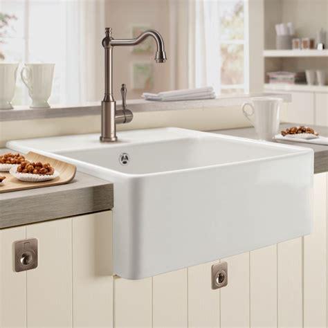 kitchen with belfast sink villeroy boch butler 60 belfast ceramic sink sinks 6493