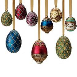 russian imperial egg large and mini christmas ornament set