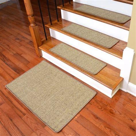 stair tread rugs dean attachable non skid sisal carpet stair treads