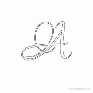 Calligraphy alphabet stencils freealphabetstencilscom for Calligraphy letter stencils