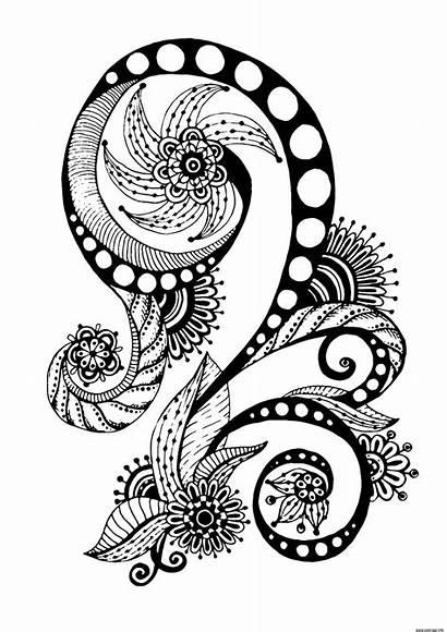 Motif Inspiration Coloriage Antistress Florale Juliasnegireva Abstrait