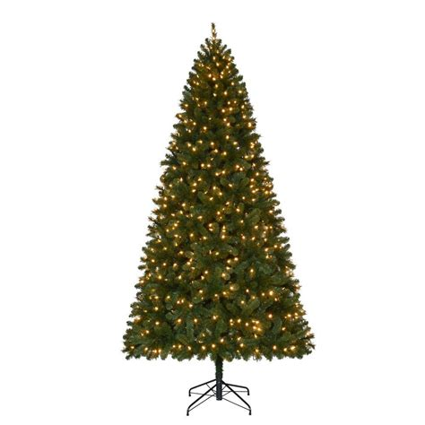 home accents holiday  ft pre lit led wesley spruce quick
