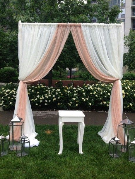 Diy Backdrops 10x10 by Draping Outdoors Frame Ffrom Pvc Pipes And Sheer Curtains