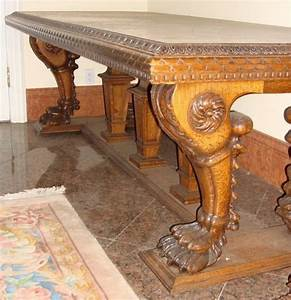 Dining Table: Antique Carved Dining Table