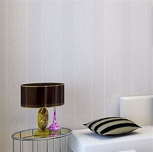 papel de parede. Stripe Modern Textured Wallpaper bedroom ...