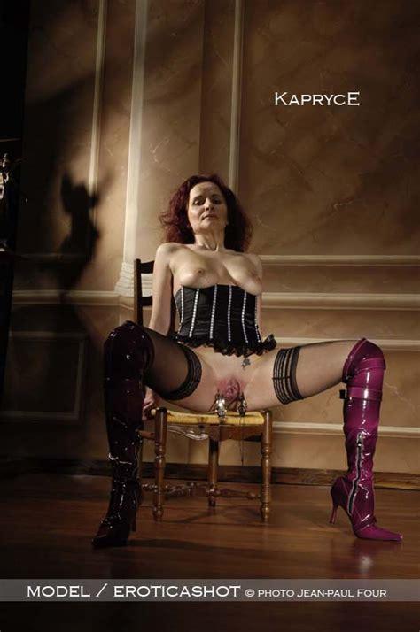 Kapryce - models of eroticashot, brunette, breast bondage, fist fucking, masochist, tits torture ...
