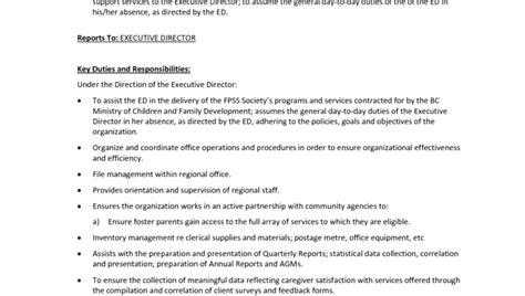Executive Assistant Duties And Responsibilities Resume by Office Executive Assistant Key Duties And Responsibilities