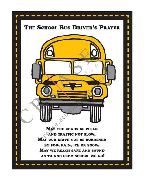 gifts for transport drivers driver s prayer 8x10 printable instant